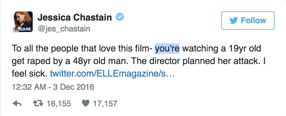 tweet chastain