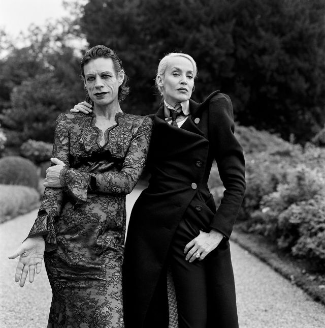 Mick Jagger and Jerry Hall, Château de La Fourchette, France, 1996. Photo by Brigitte Lacombe