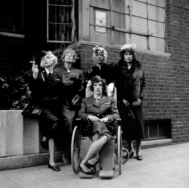 The Rolling Stones in drag for the single Have You Seen Your Mother Baby, Standing in the Shadow, 1966. Photo by Jerry Schatzberg