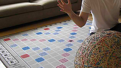 brain magazine l 232 che vitrines introducing le tapis scrabble